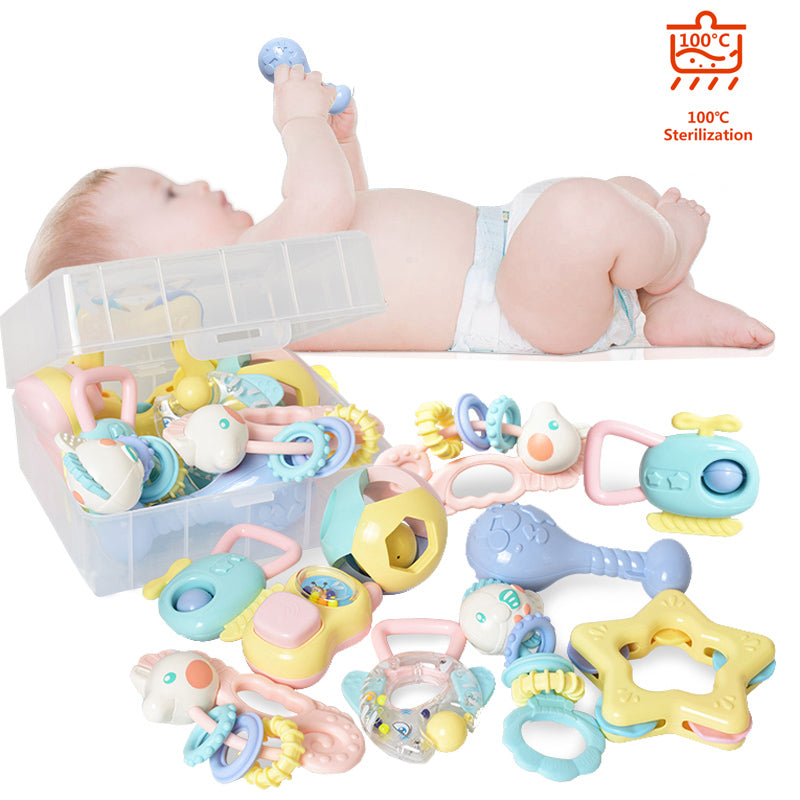 8pcs  Hand Rattle Teether Toy