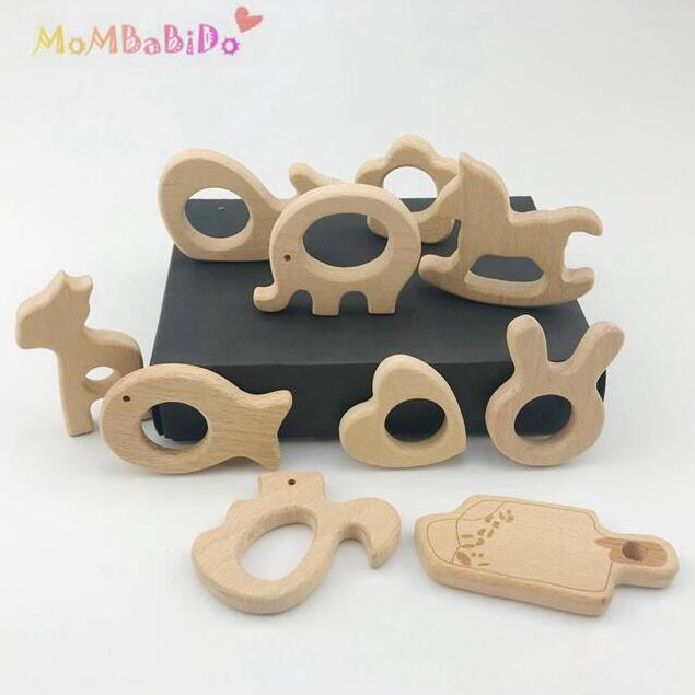 10pc  Wood Teething Holder Teethers