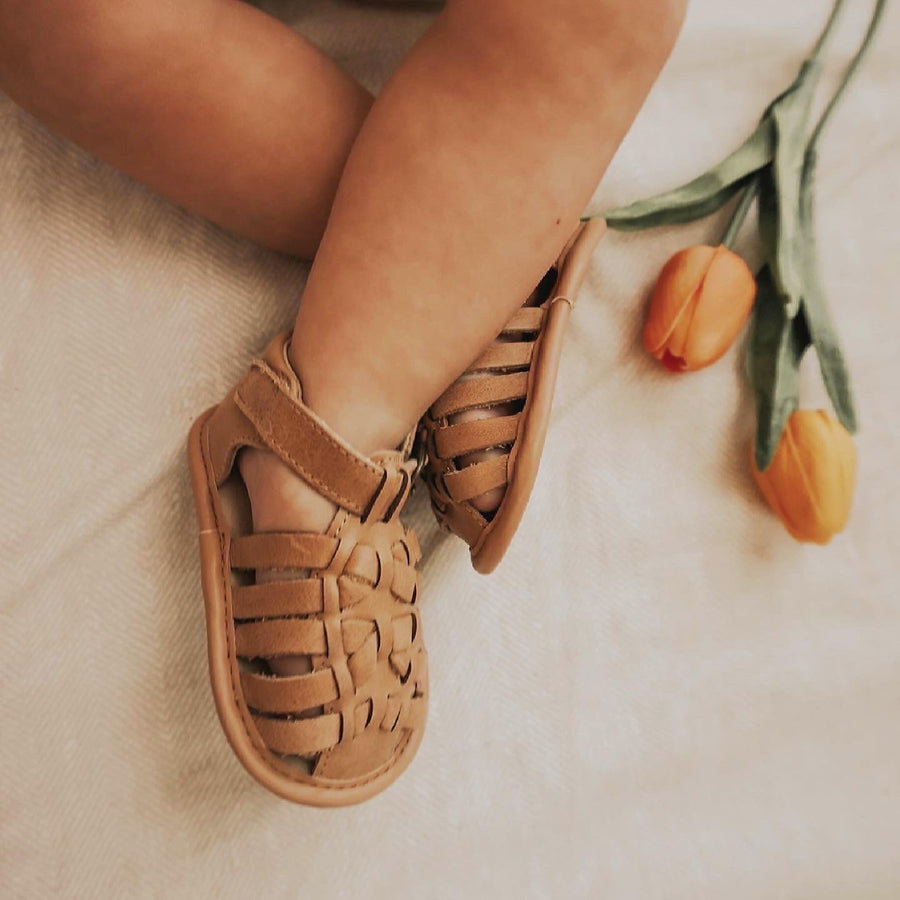 Leather Indie Sandal | Color 'Sand' | Soft Sole