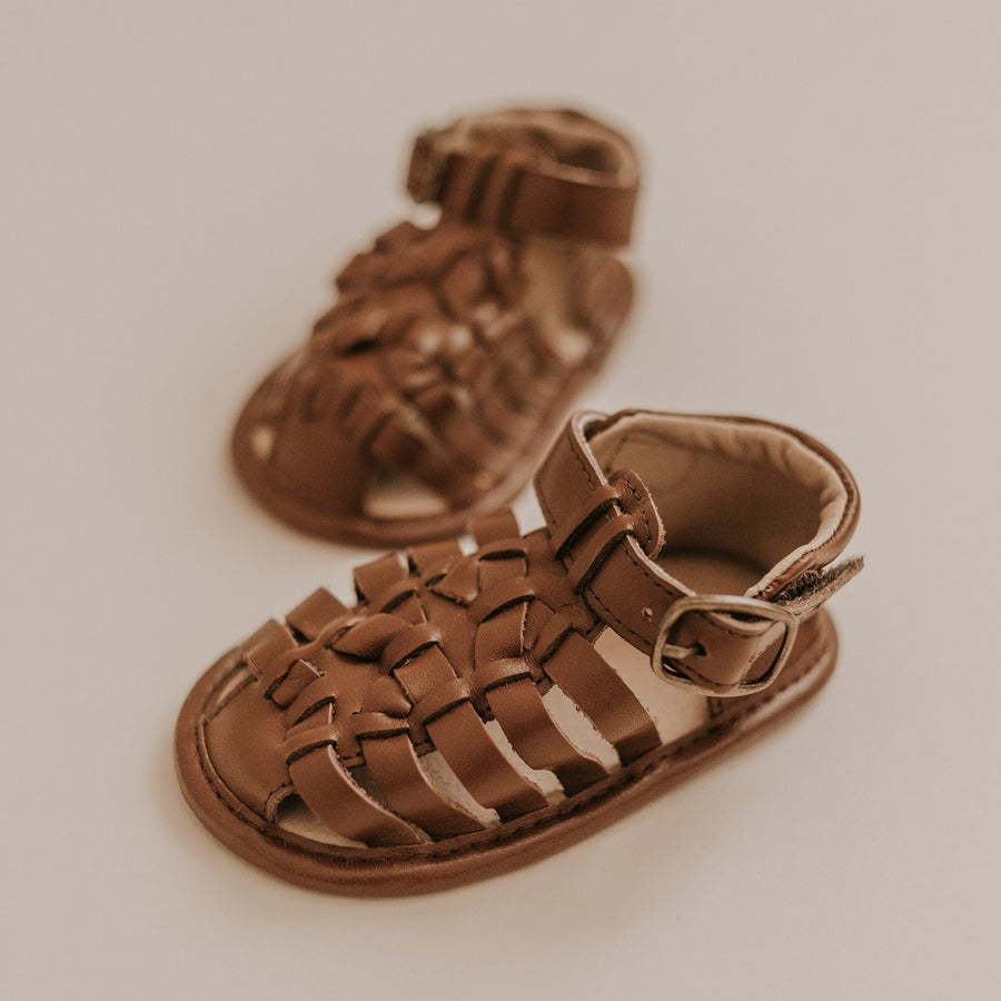 Leather Indie Sandal | Color 'Hazelnut' | Soft Sole
