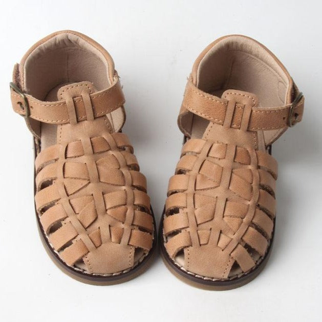 Leather Indie Sandal | Color 'Sand' | Hard Sole