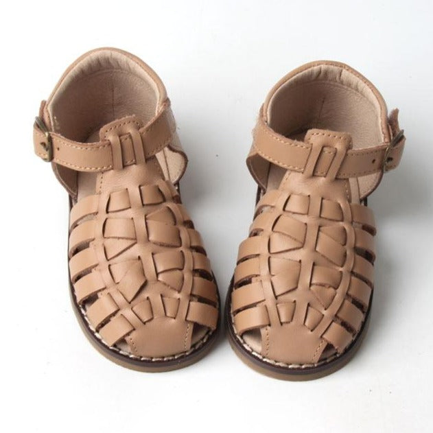 Leather Indie Sandal | Color 'Tan' | Hard Sole