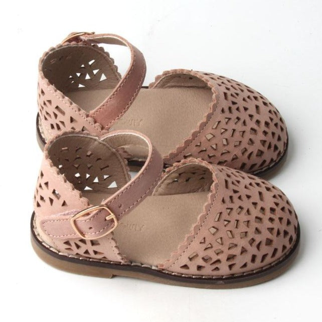 Leather Pocket Sandal | Color 'Rosewater' | Hard Sole