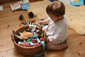 Treasure basket play - should parents join in?
