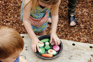 Vegetables - sensory play stones