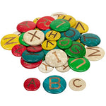 Colourful coconut shell alphabet - uppercase
