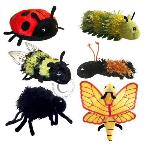 The Puppet Company minibeasts finger puppet set