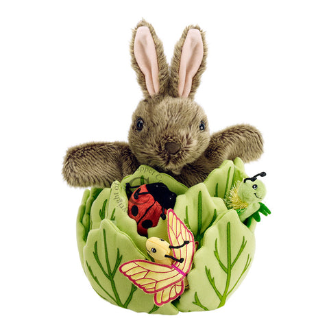 Rabbit in a lettuce with 3 mini beasts