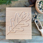 Oak leaf sensory board