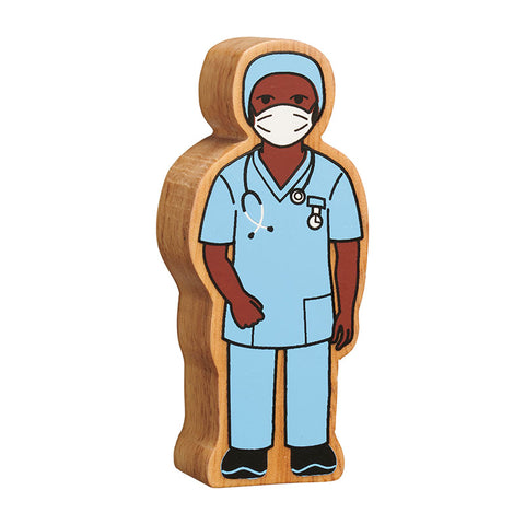Lanka Kade natural blue nurse in scrubs
