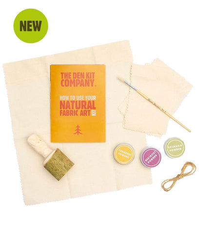 Natural fabric art kit