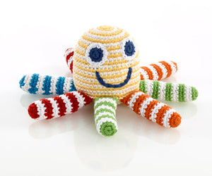 Bright stripes cotton octopus