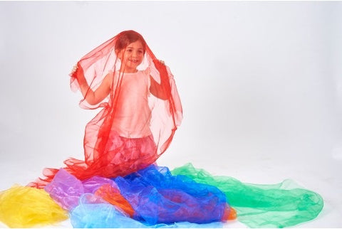 Rainbow organza fabric pack (pack 7)