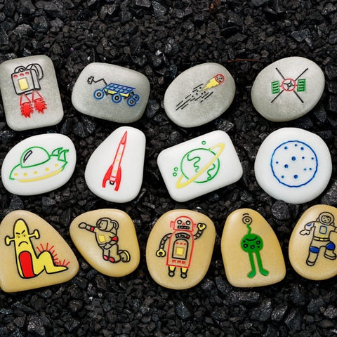 Outer space story stones