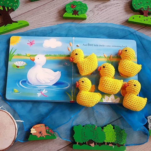 Hand made five little ducks