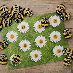 Honey bee number stones (10 stones)