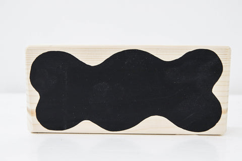 Wooden blackboard blocks