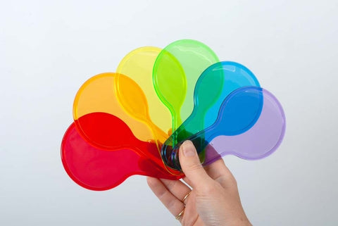 Translucent colour paddle set (set 6)