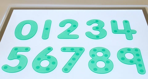 SiliShapes dot numbers - green (pack 10)