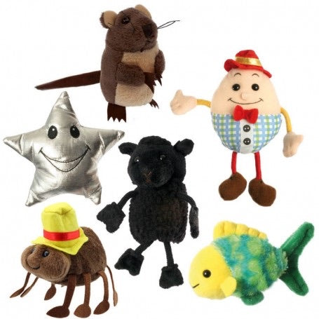Finger puppets - nursery rhymes - set of 6