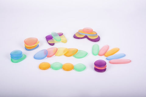 Clear junior rainbow pebbles (pk 36)