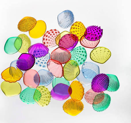 Translucent tactile shells - set of 18