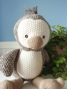 Knitted penguin