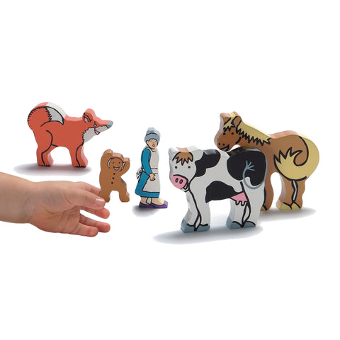 The Gingerbread Man wooden characters set