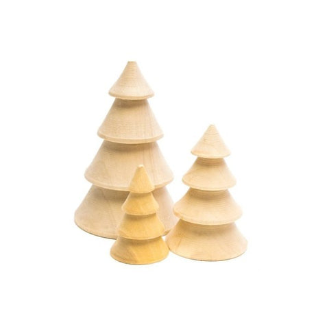 Set of 3 wooden Christmas trees