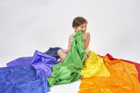 Rainbow habutae fabric pack (pack 7)