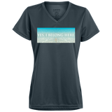 "Water Goddess ""Yes, I Belong Here"" Wicking T-Shirt"