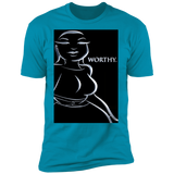 WATER GODDESS WORTHY/ADINKRA SYMBOLS Premium T-Shirt (Men's)