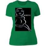 "WATER GODDESS WORTHY/ADINKRA ""Boyfriend"" Style T-Shirt"