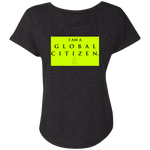 """Global Citizen"" Water Goddess Triblend Dolman Sleeve"