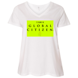 """Global Citizen"" Water Goddess Ladies' Curvy V-Neck T-Shirt"