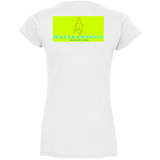 'Dance Floor Annihilator' Ladies' Fitted Softstyle 4.5 oz V-Neck T-Shirt