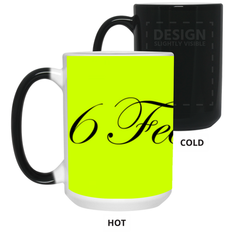 "WATER GODDESS ""6 Feet Please"" 15 oz. Color Changing Mug"