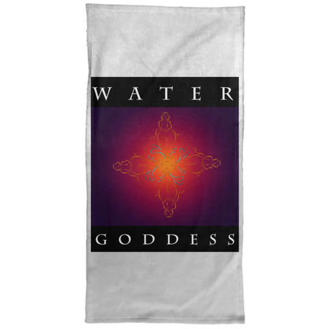 "Water Goddess ""Flower of Sisterhood"" Hand/Golf/Gym Towel - 15x30"