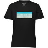 "Water Goddess ""Yes, I Belong Here."" Raglan Sleeve Wicking T-Shirt"