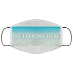"""Yes, I Belong Here."" Water Goddess Face Mask"