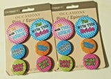 Bride Buttons, Bachelorette Party, Bridal Party Buttons, 12pc Novelty Pins - NEW