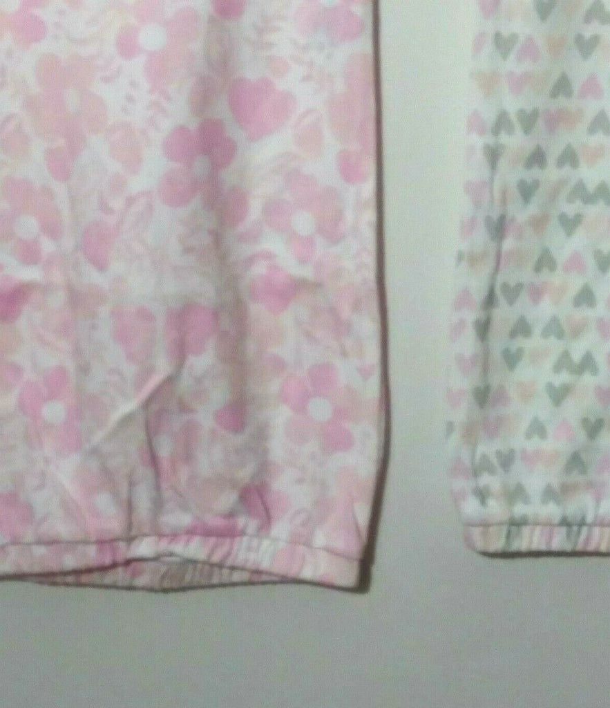 Cloud Island Baby Girls' Set of 2 Sleep Gown Hearts Flowers Pink/Multi 0-6 Mths