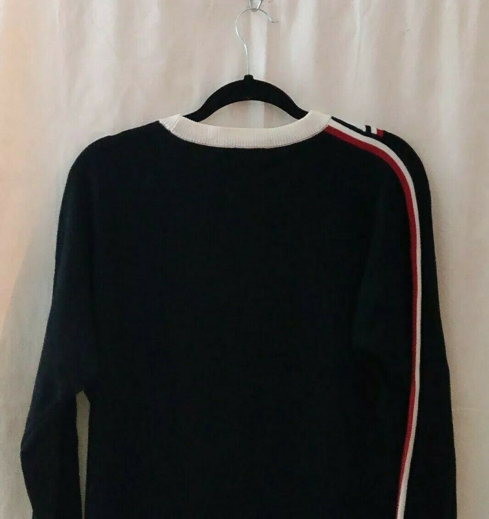 Tommy Hilfiger Chevron Long Sleeve Sweater Dress Medium Black MSRP $109.50