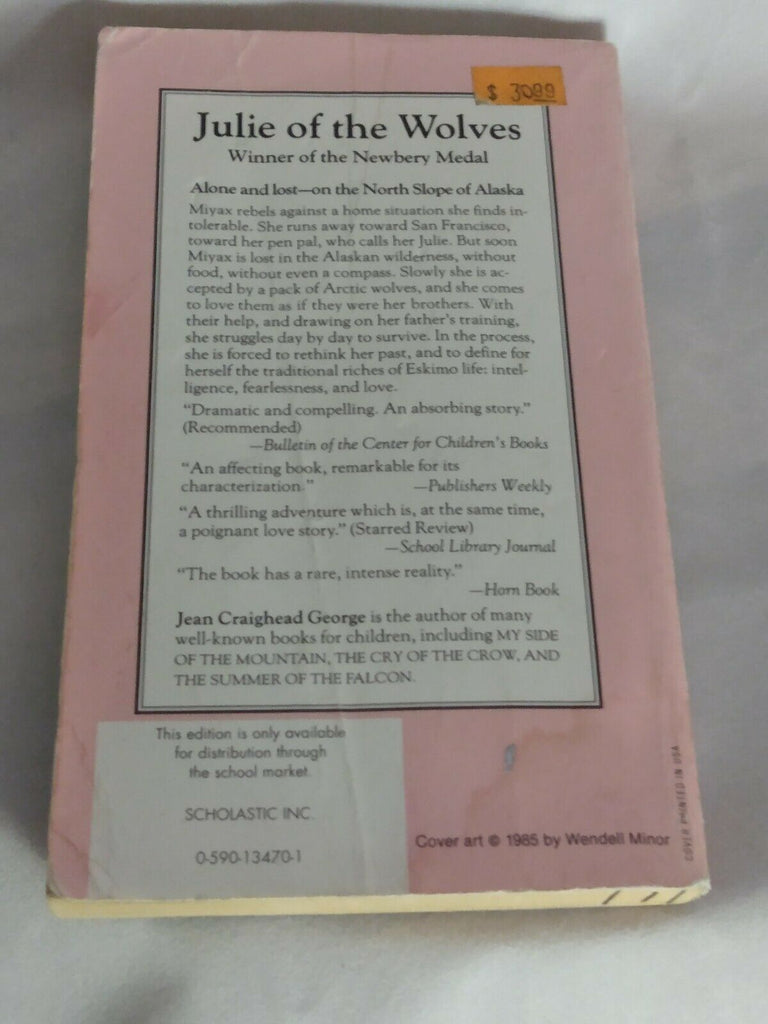 Julie Of The Wolves by Jean Craighead George  (1985, Paperback)
