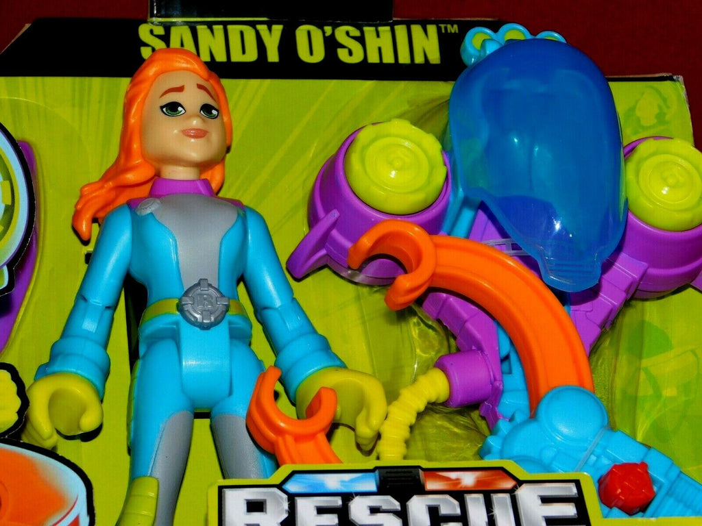 Fisher Price Rescue Heroes Sandy O'Shin /Removable Flippers + Water Rescue Claw