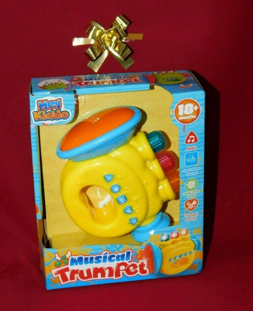 Hey Kiddo Musical Trumpet Free Play Ages 18+ Months