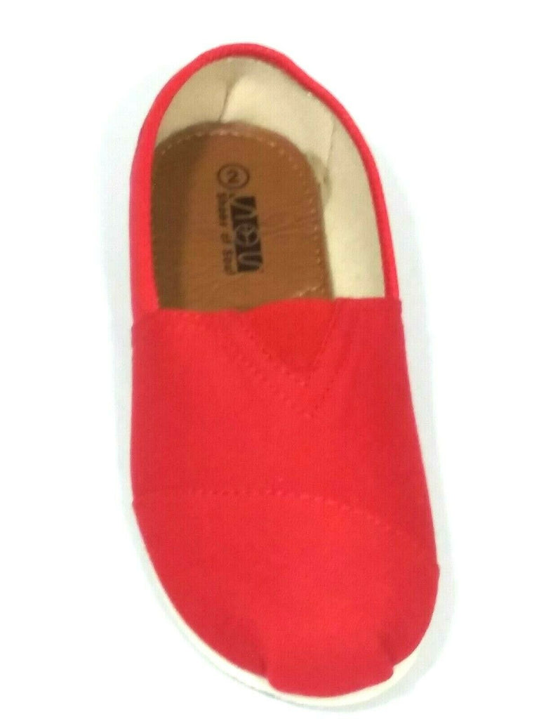 Shoes of Soul Kids Girls Canvas Slip-on Shoes Red G955-31