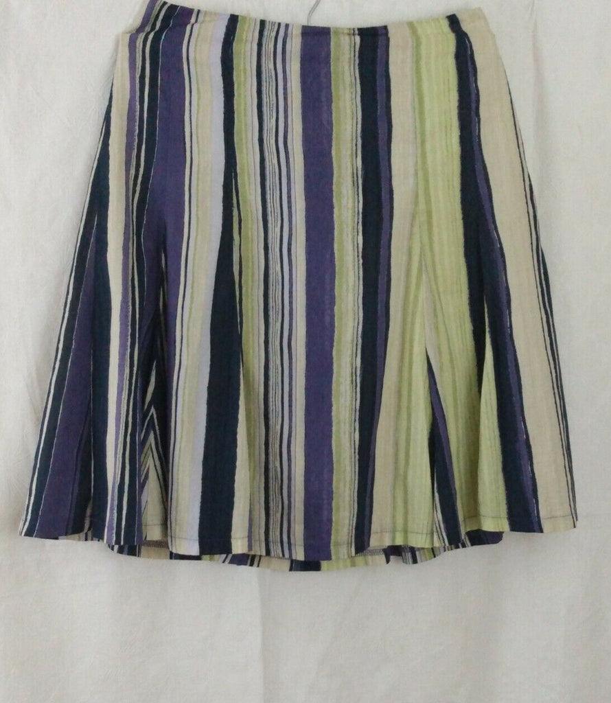 New York & Company Women's Vertical Print Cotton Skirt Size 2 Multicolor