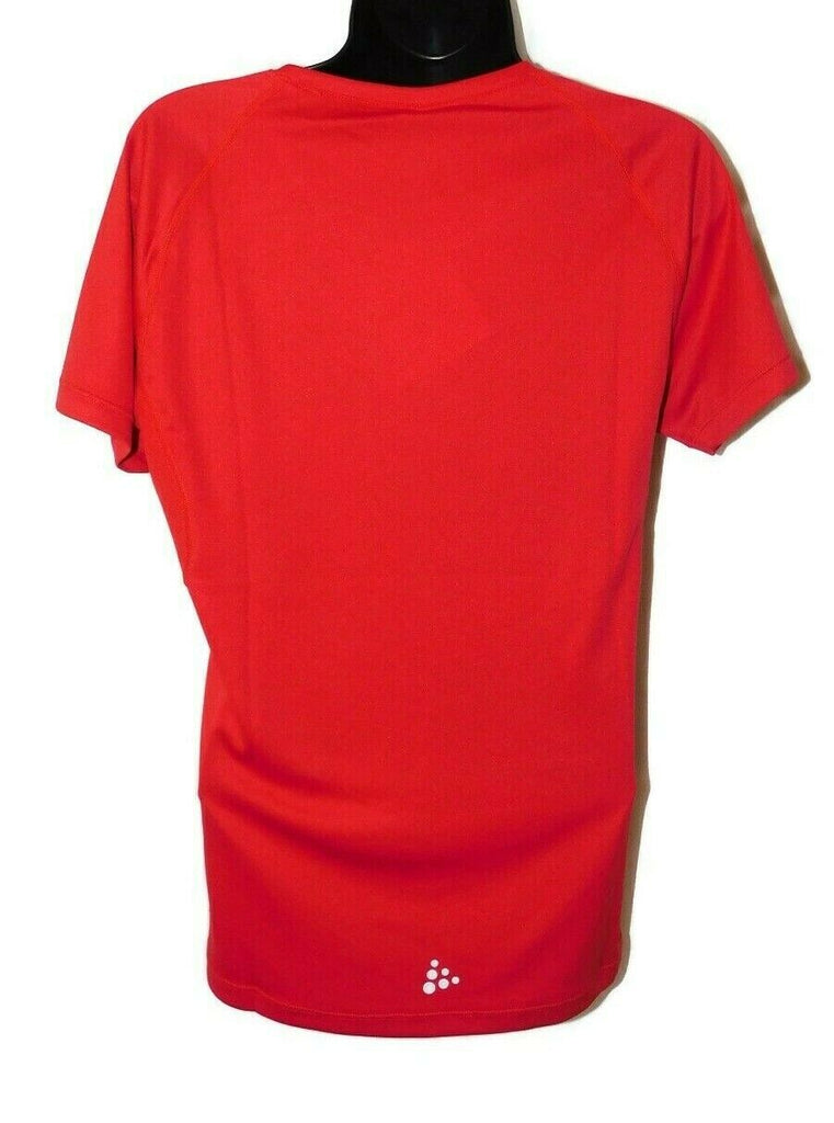 Craft Prime Short Sleeve T-Shirt Women's Small Bright Red Tops Activity Tee M/L