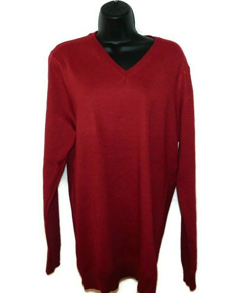 Women's V-neck Longsleeve Wine Red Sweater Large New